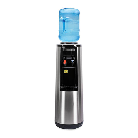 Hot and Cold Water Dispenser Cooler Top Load, Stainless Steel, Brio Signature
