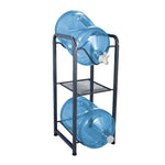 Brio Metal Bottle Storage Rack - 2 Metal Bottles w/ Shelf