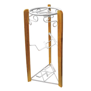 35-Inch 3-Stage Metal and Wood Stand