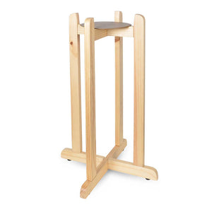 27-Inch Natural Wood Stand for Crocks & Water Bottles