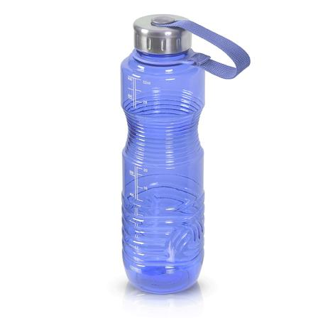 32 Ounce BPA Free Water Bottle, Plastic Bottle, Sports Bottle, with Stainless Steel Cap, GEO