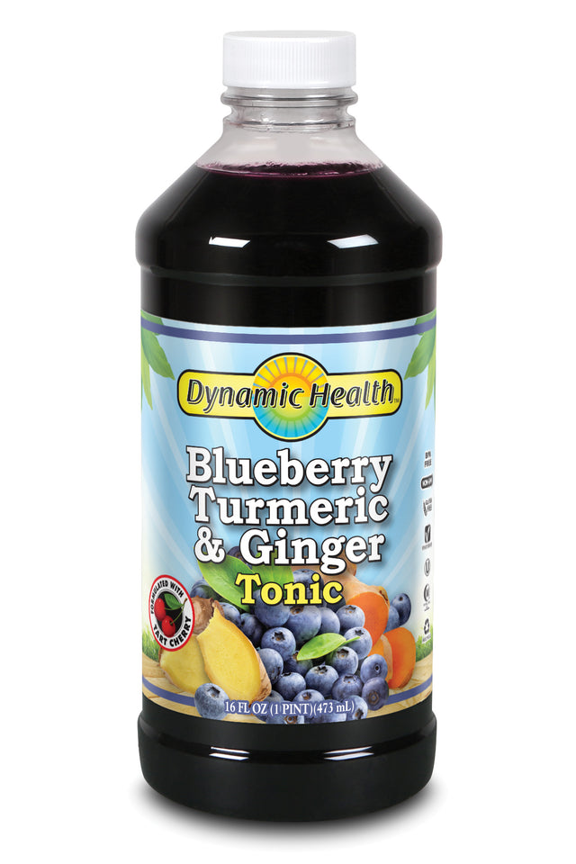 Blueberry, Turmeric & Ginger Tonic - 16-Fl-Oz-(473-mL)