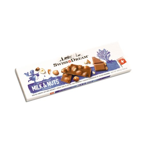 Swiss Dream Milk & Nuts Bar 300G Vence el 09/Oct/20