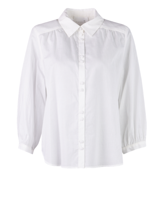 March23  - Melila Cotton Blouse - Voile Crispy White