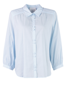 March23  - Melila Cotton Blouse - Sky Blue