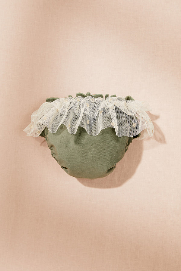 Baby Corduroy Tutu Bloomers Green - Strawberries & Cream