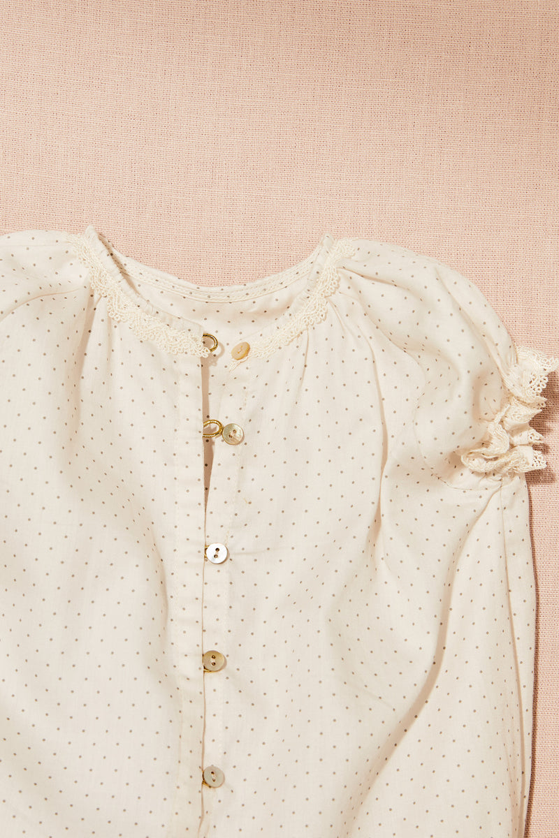Cotton Dot Chips Romper