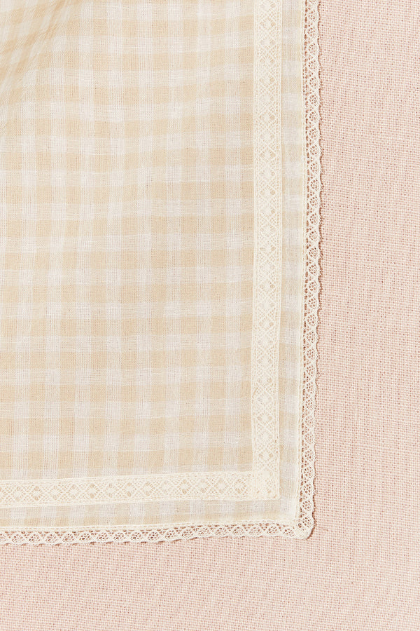 Dreams Swaddle in Theodora Check - Strawberries & Cream