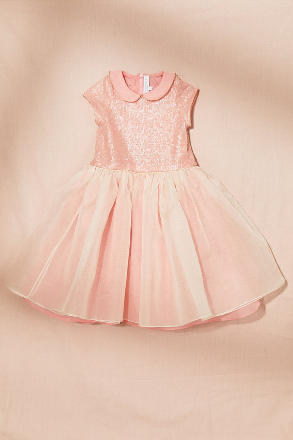 Fairy Dress with Silk Organza - Strawberries & Cream
