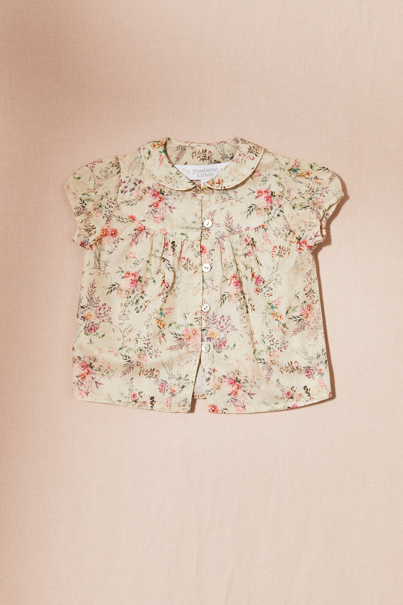 Garden Flowers Honey Blouse