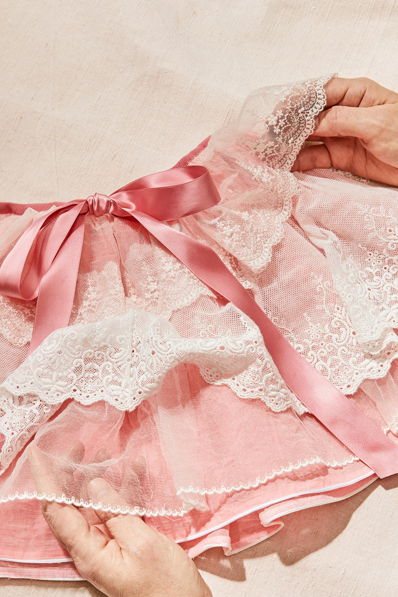Opera Tutu Skirt - Strawberries & Cream
