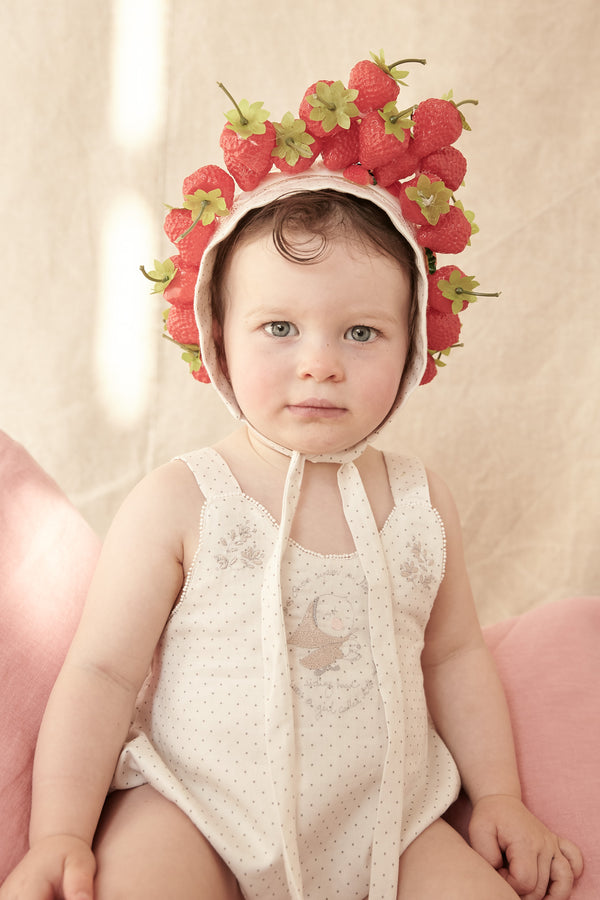 Wave Pinafore with Cotton Dots