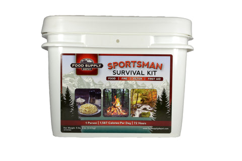 Sportsman - Survival Kit - 1 person - 72hours - with Essential Supplies