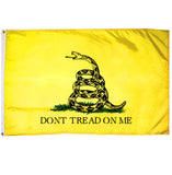 "3'x5' Gadsden ""Don't Tread On Me"" Flag - Yellow"