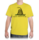 "T Shirt - ""Don't Tread On Me"" Gadsden - Yellow"
