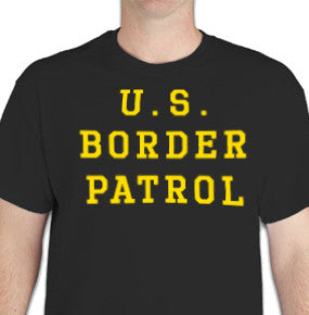 T Shirt U.S. Border Patrol - Black & Gold