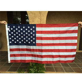 US Flag - Double Stitched Nylon 3x5 with Embroidered Stars