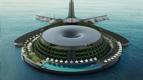 Qatar plans to build floating hotel that spins to produce its own electricity