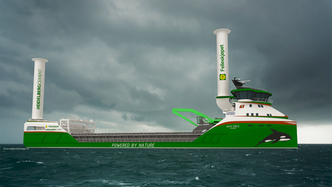 World's First Zero-Emission Wind and Hydrogen Power Cargo Ship