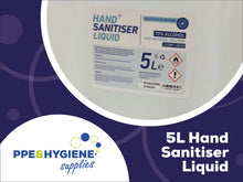 Load image into Gallery viewer, 5 Litre Alchol Based Hand Sanitiser
