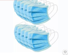 Load image into Gallery viewer, 3 Ply Disposable Masks Boxed 50's