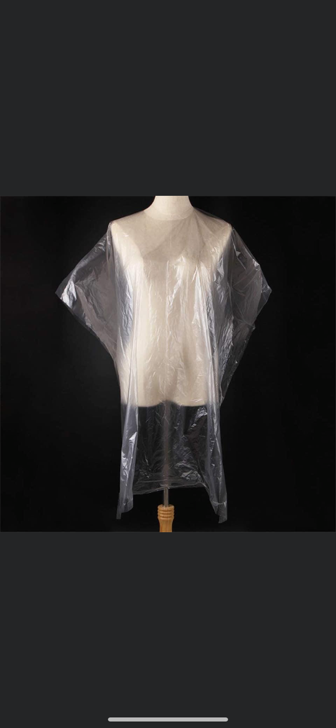 Clear Disposable Gowns 70cm x 120cm