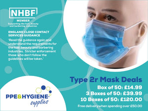 These Type 2R disposable masks are now mandatory for salons & barbers