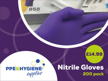 Load image into Gallery viewer, Nitrile Powder Free Disposable Gloves