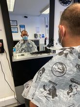 Load image into Gallery viewer, Patterns Disposable Barber Gowns