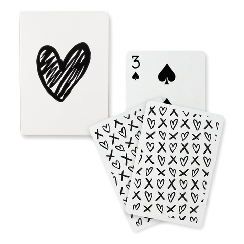 FANCY BLACK HEART PLAYING CARDS