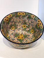 "Load image into Gallery viewer, 12"" Large Bowl Country Sunflowers"