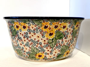 "12"" Large Bowl Country Sunflowers"