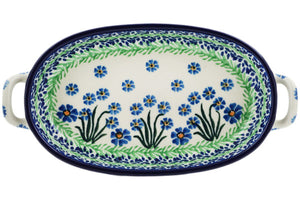 Ceramika Artystyczna Oval Baker with Handels April Shower