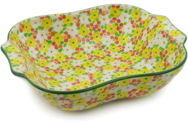 Ceramika Artystyczna Square Baker with Handles Blooming Meadow