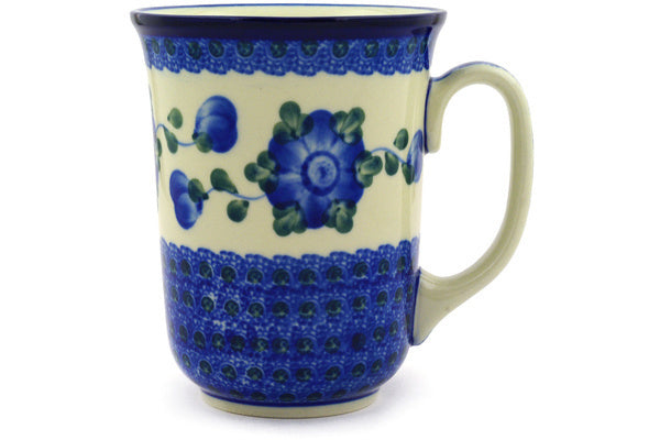 17 oz Bistro Mug Blue Poppies
