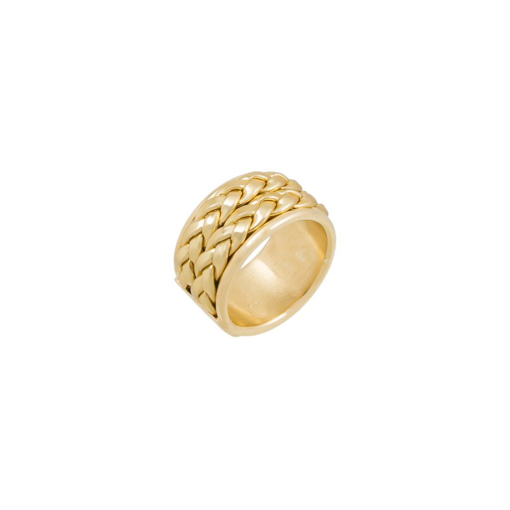 Braided Band Gold Woven Ring