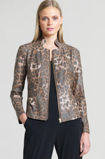 Load image into Gallery viewer, Liquid Leather Jacket Cheetah