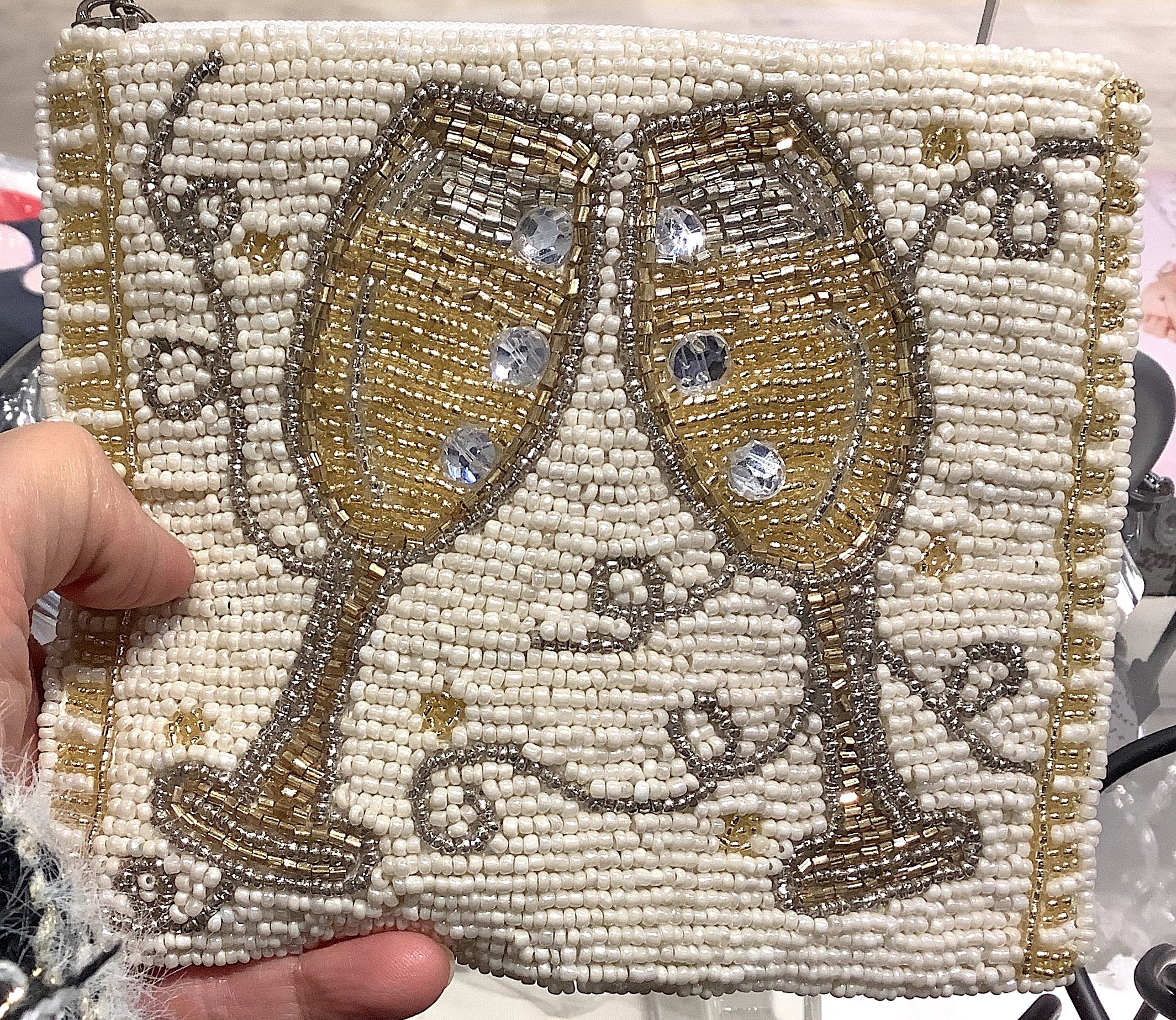 """We'll Toast to That"" Beaded Cocktail Handbag"