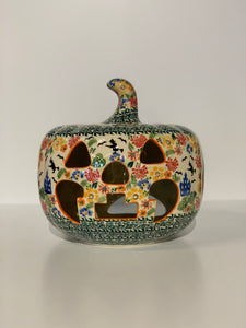 Large Polish Pottery Pumpkin Good Witch