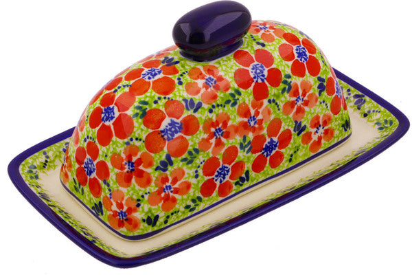 Signature Zaklady Butter Dish Flowers  Burst