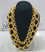 Load image into Gallery viewer, Double Linked Loop Chain Necklace