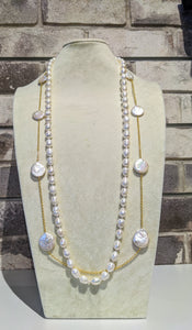Coin Pearl Layering Necklace