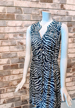 Load image into Gallery viewer, Lilly Dress / Navy Wildlife