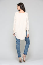 Load image into Gallery viewer, Cream Cashmere Sweater