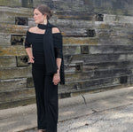 Load image into Gallery viewer, Black Jumpsuit Max 3/4 Sleeve