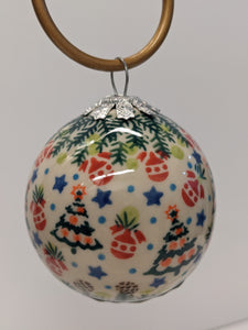 Christmas Tree Round Ball Ornament
