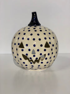 Polish Pottery Pumpkin Polka Dots