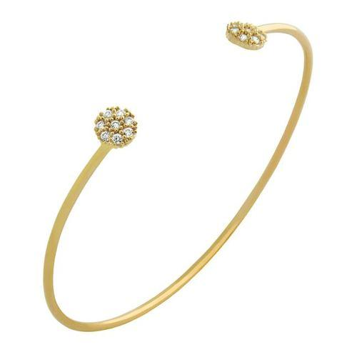 Gold Floating Disc Bangle