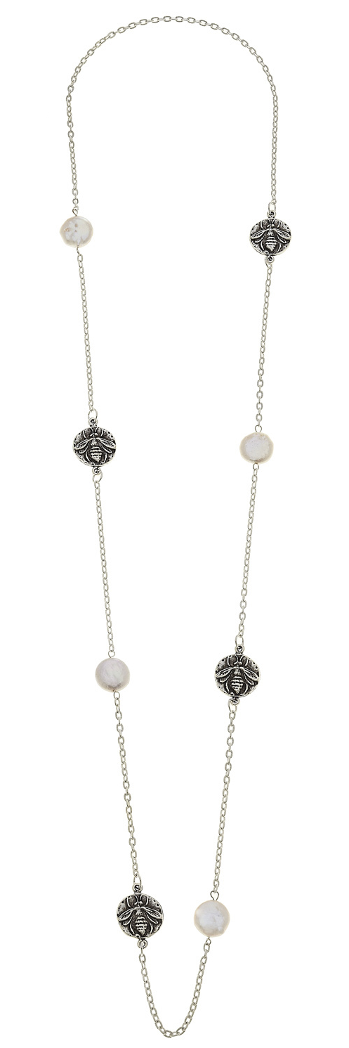 Bee & Pearl Layering Necklace