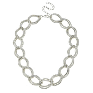 Double Linked Loop Chain Necklace